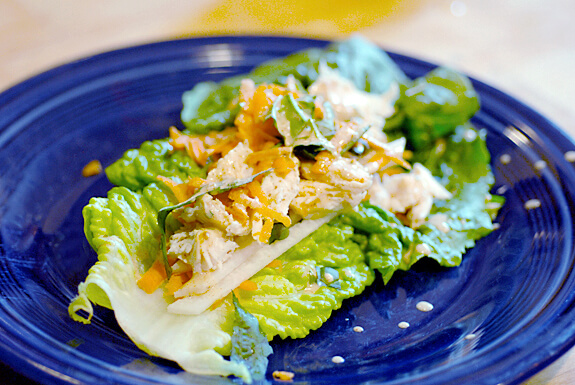 Asian chicken or fish wraps